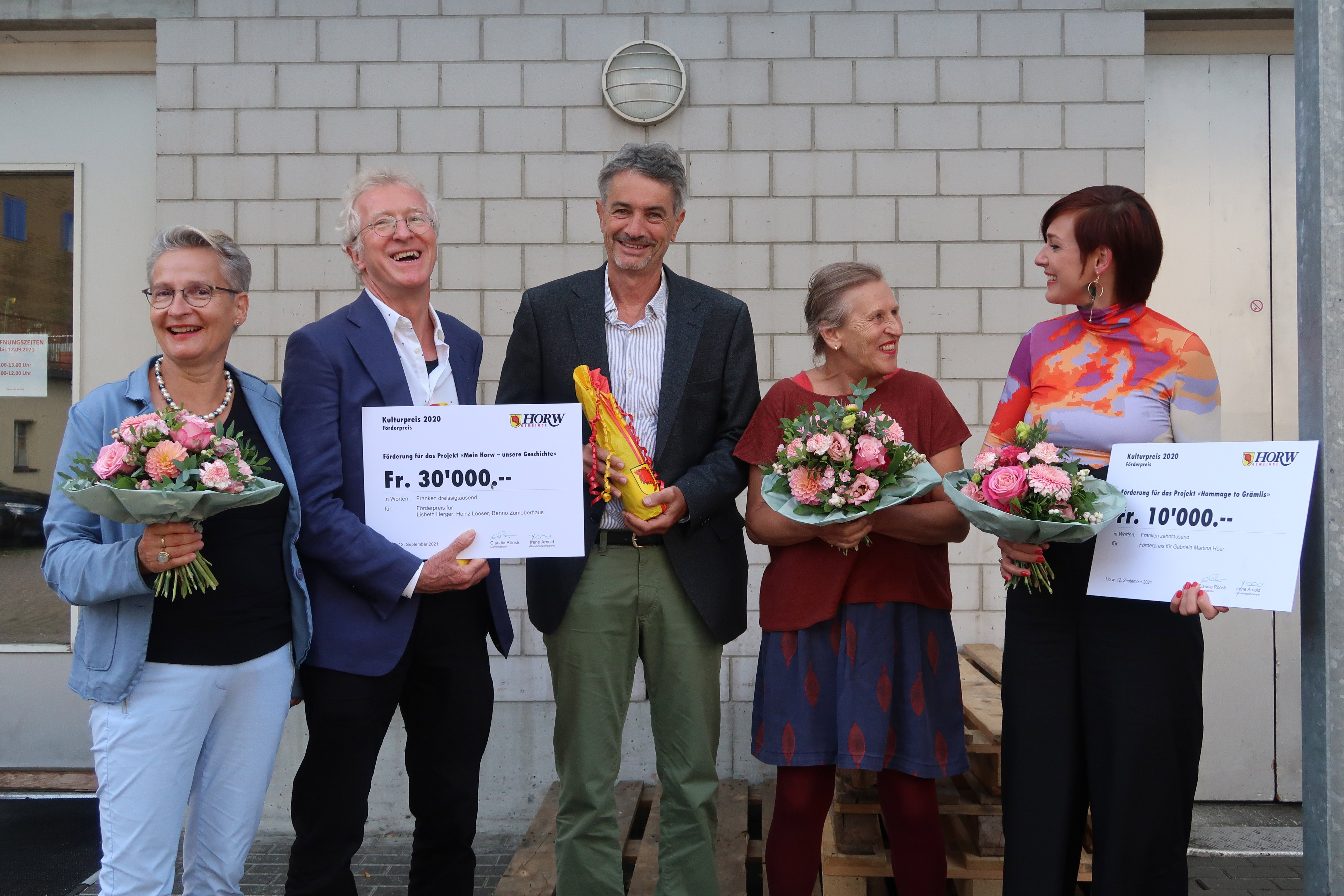 Die Empfängerinnen und Empfänger der Kulturpreise 2020.