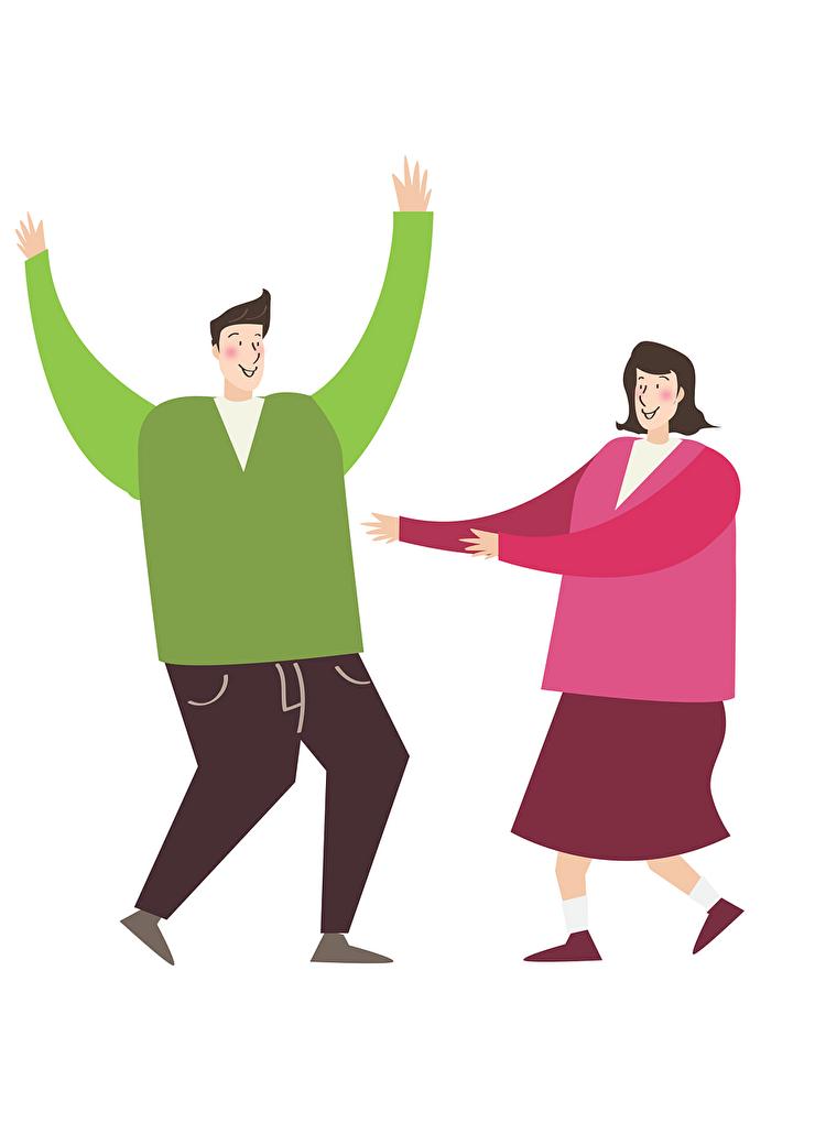 Illustration tanzendes Paar