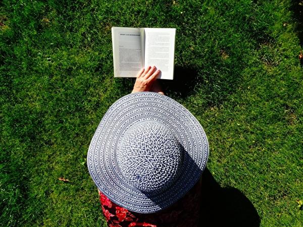 Lesen auf der Wiese