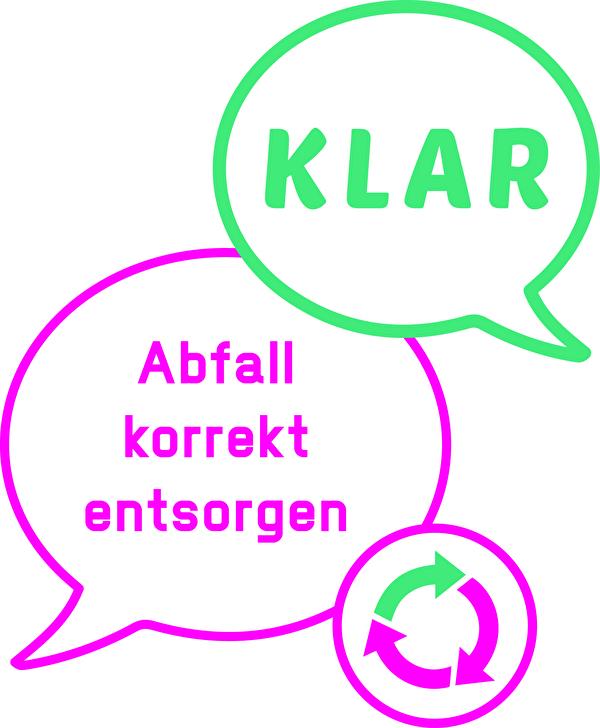 Logo Kampagne KLAR Abfall