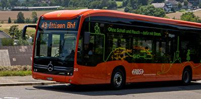 E-Bus auf der Linie 43
