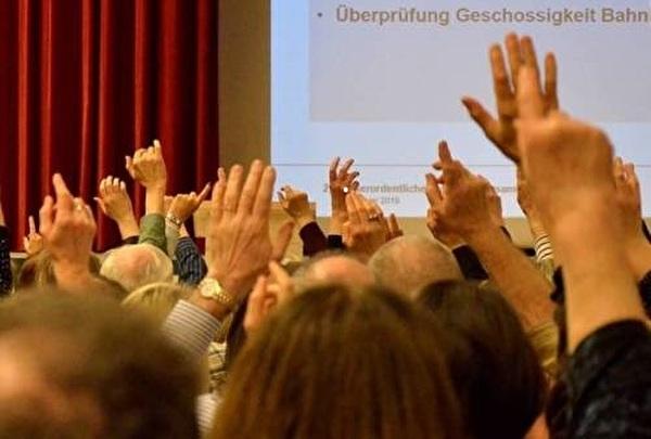 Gemeindeversammlung Abstimmung