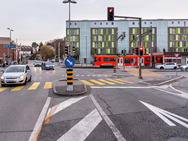 Knoten Station Ittigen vor der Umgestaltung im April 2021