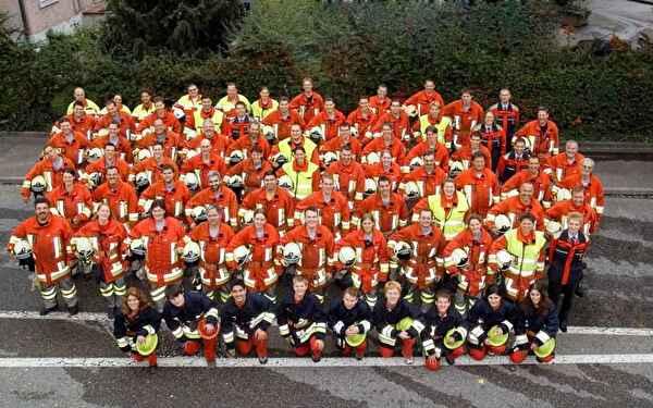 Gruppenbild der Feuerwehr Rheinfelden