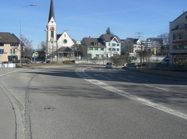 Kaiserstrasse Blick Richtung Kirche