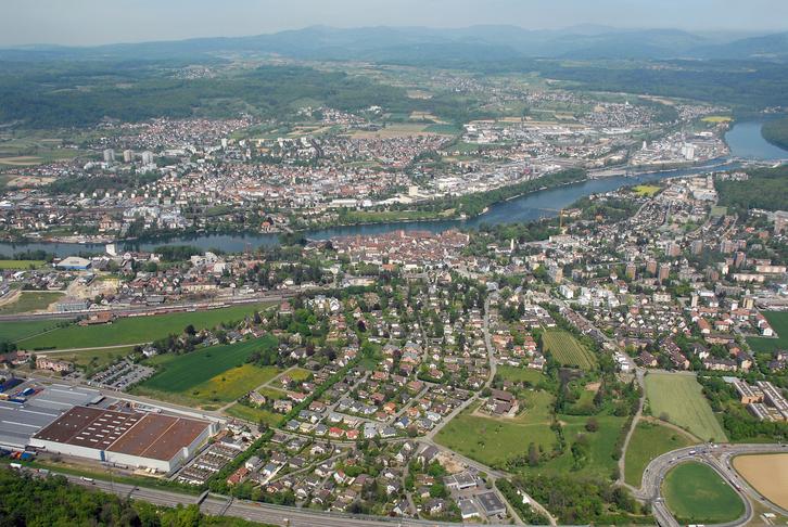 Luftaufnahme beider Rheinfelden