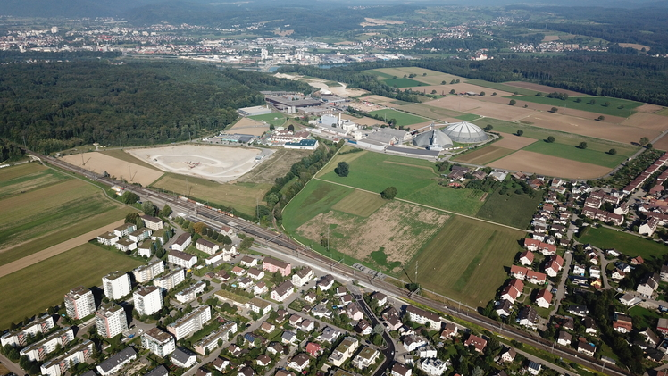 Flugaufnahme Rheinfelden Ost