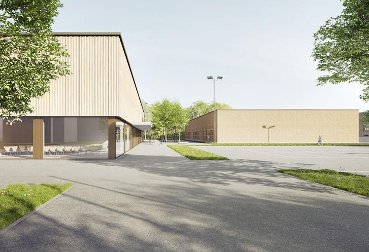 Visualisierung neue 3fach-Turnhalle