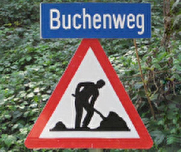 Themenbild Baustelle Buchenweg