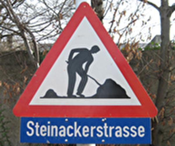 Themenbild Baustelle Steinackerstrasse