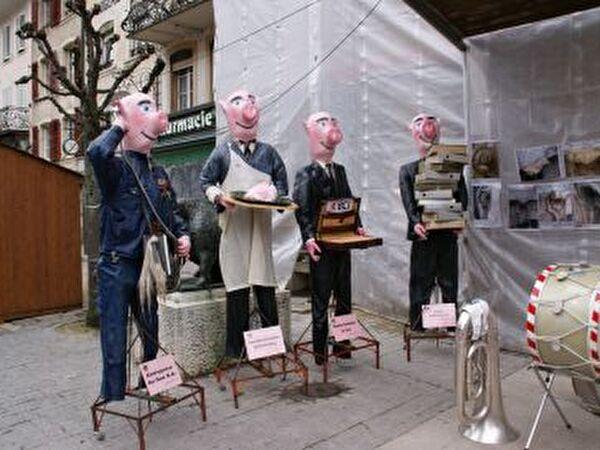Schweine am Marché de Saint-Martin