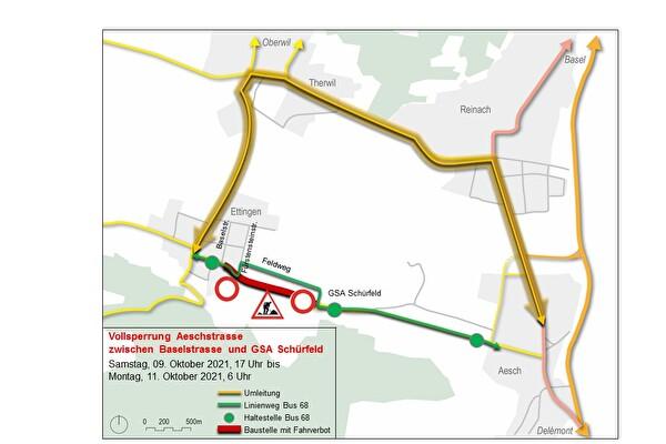 Karten mit Situationsplan der Baustelle