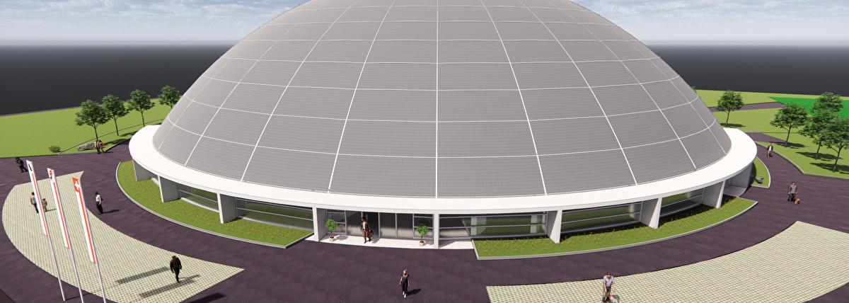 Visualisierung Sport + Kultur Zentrum Löhrenacker «Dom»