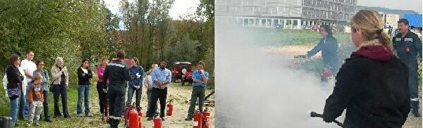 Einsatz von Feuerlöschern