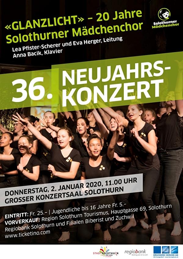 Flyer des Neujahrskonzerts