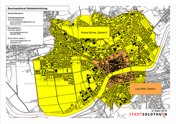 Gebietseinteilung Bauinspektorat