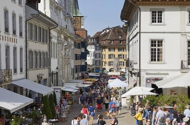 Fotografie vom Samstagsmarkt in der Altstadt