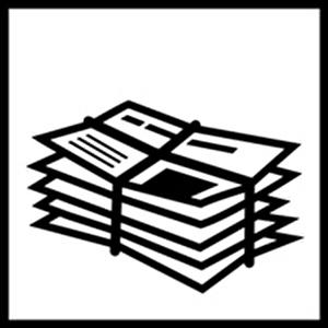 Piktogramm Papiersammlung