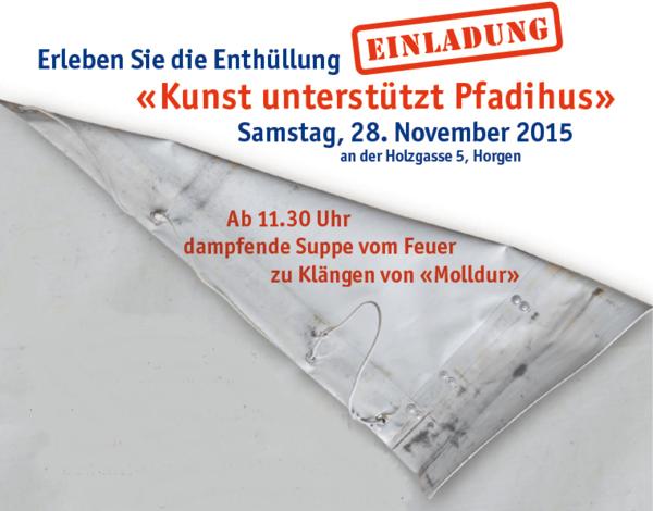 Plakat Kunst unterstützt Pfadihus