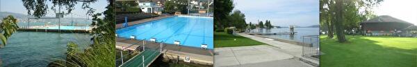 Bilder Sportbad Käpfnach und Parkbad Seerose