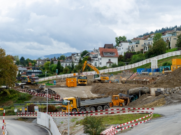 Baustelle in Horgen