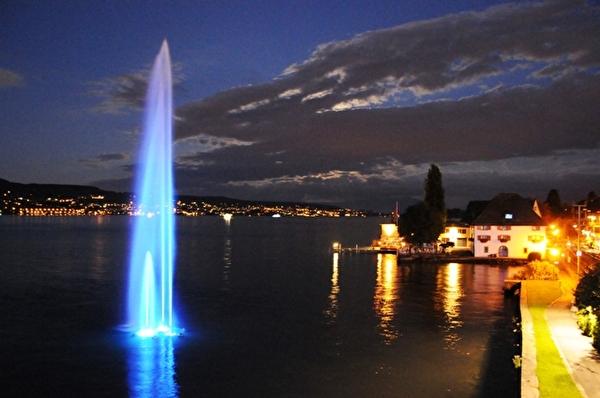 Nachtbild Springbrunnen
