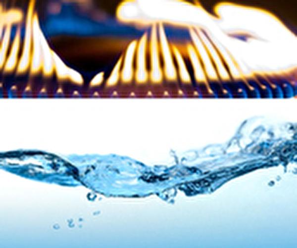 Installation Gas und Wasser