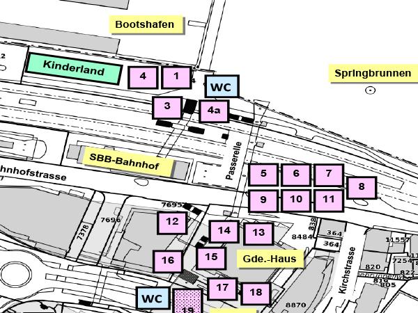 Planausschnitt Dorfzentrum Horgen