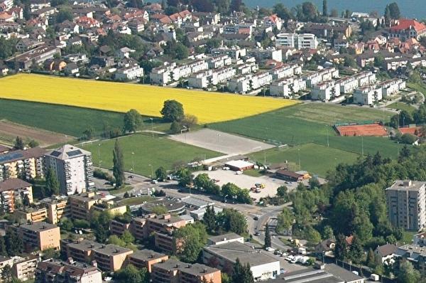 Luftbild Sportanlage Allmend (Foto: Walter Stünzi)