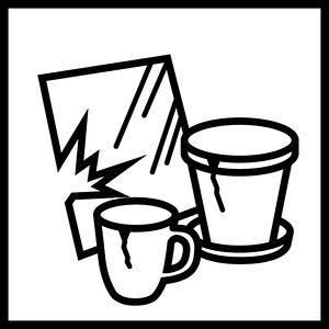Piktogramm mineralische Abfälle