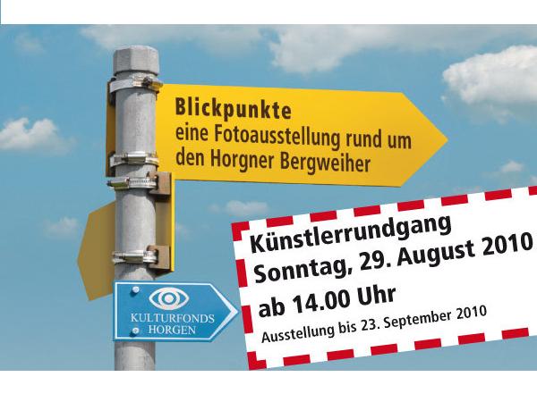 Plakat der Fotoausstellung Blickpunkte.