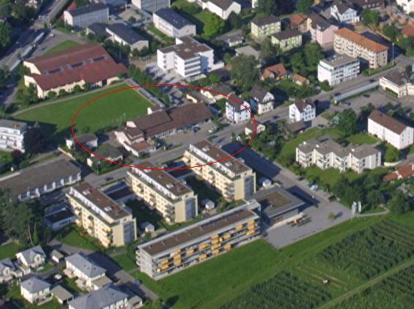 Luftbild Liegenschaft Bruggmühlestrasse 14