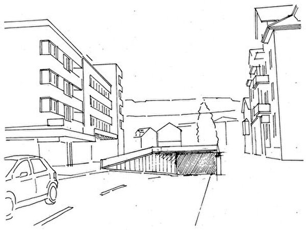 Skizze Unterführung Bahnübergang