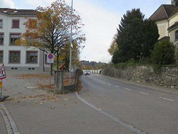 enge Stelle zwischen Kirchenfeldschulhaus und kath. Kirche