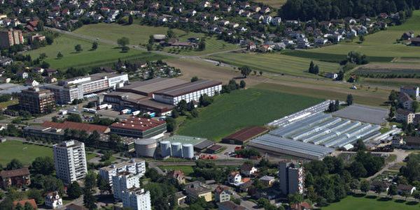 Luftaufnahme Gebiet Nestlé