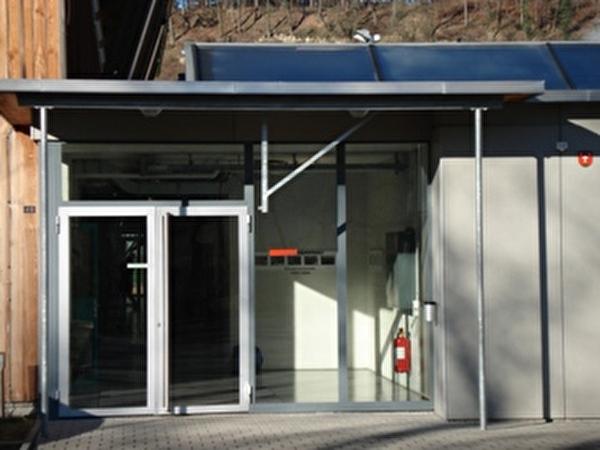 Eingang der Sportanlage Hofstattmatten