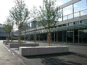 Eingang Dreifachhalle/Musikschule Hofmatt