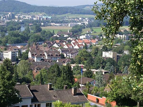 Dorfansicht vom Berg