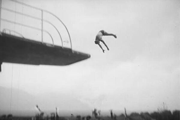 Einweihung Schwimmbad 1956