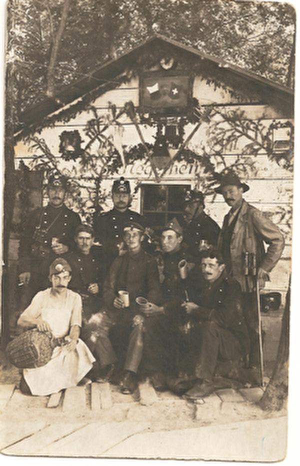 Historisches Foto der Grenzbesetzung.