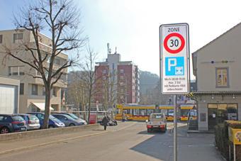 Eingang einer Parkkarten-Zone