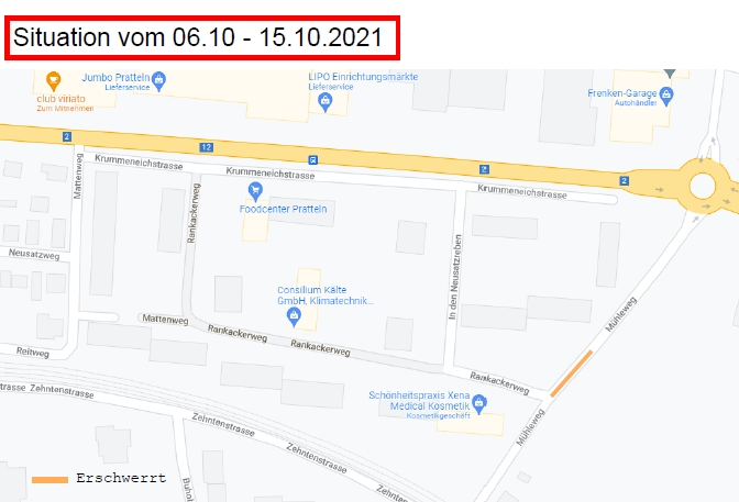 Situation 6. bis 15.10.2021