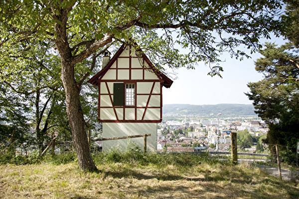 Hagebächli Gemeinde Pratteln Hagenbach Rebberg Riegelbau Aussicht Pratteln Studierzimmer