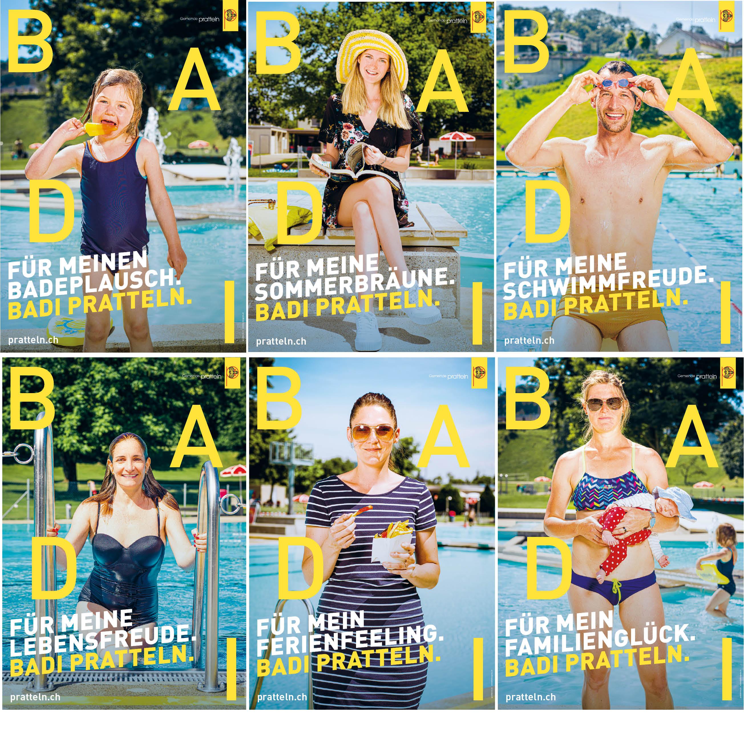 Schwimmbad Kampagne Gemeinde Pratteln