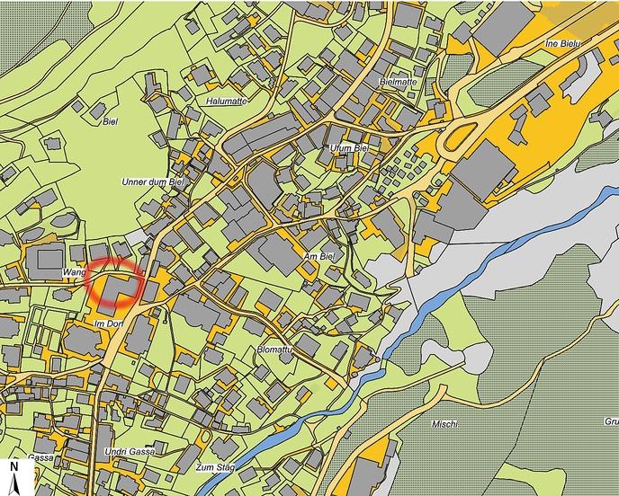 Lageplan Gemeindehaus Saas-Fee