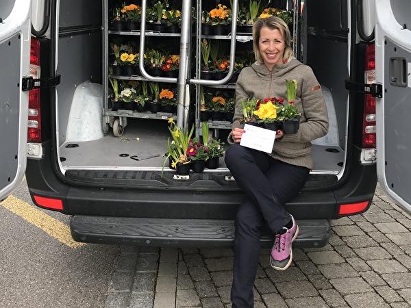 Blumenverteilaktion