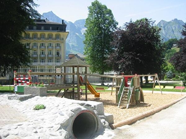 Der neue Spielplatz im Kurpark