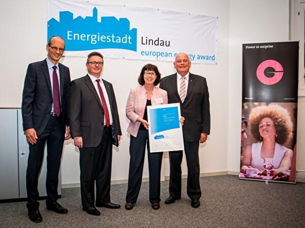 Übergabe Label Energiestadt
