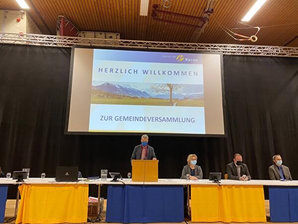 Resultat Herbstgemeindeversammlung 2020