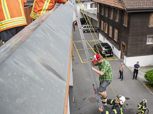 Rettung über die Leiter